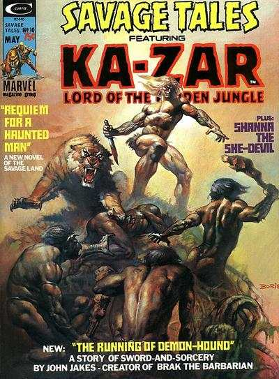 Savage Tales #10 Comic Books - Covers, Scans, Photos  in Savage Tales Comic Books - Covers, Scans, Gallery