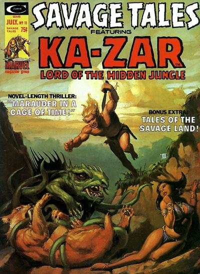 Savage Tales #11 comic books - cover scans photos Savage Tales #11 comic books - covers, picture gallery