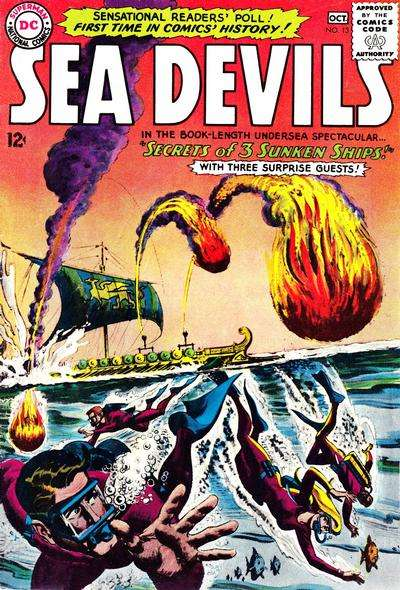 Sea Devils #13 Comic Books - Covers, Scans, Photos  in Sea Devils Comic Books - Covers, Scans, Gallery