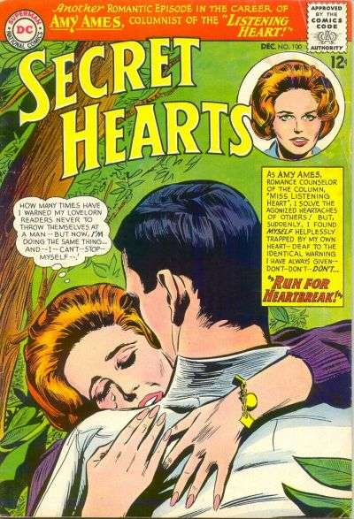 Secret Hearts #100 comic books for sale