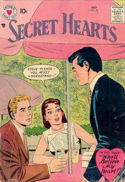 Secret Hearts #42 Comic Books - Covers, Scans, Photos  in Secret Hearts Comic Books - Covers, Scans, Gallery
