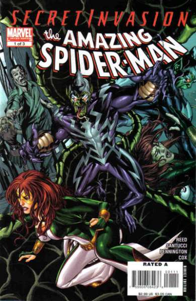 Secret Invasion: Amazing Spider-Man #1 Comic Books - Covers, Scans, Photos  in Secret Invasion: Amazing Spider-Man Comic Books - Covers, Scans, Gallery