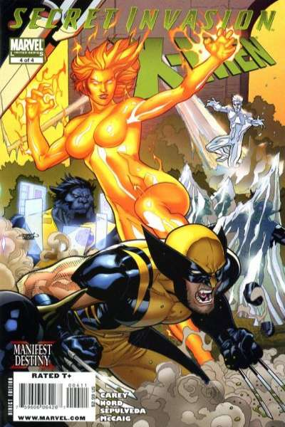 Secret Invasion: X-Men #4 comic books - cover scans photos Secret Invasion: X-Men #4 comic books - covers, picture gallery