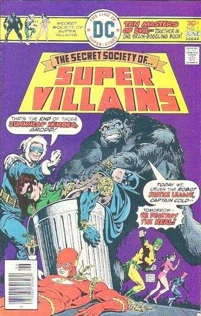 Secret Society of Super-Villains comic books