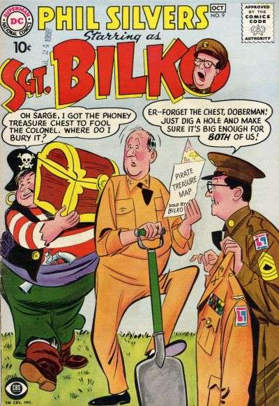 Sergeant Bilko #9 Comic Books - Covers, Scans, Photos  in Sergeant Bilko Comic Books - Covers, Scans, Gallery