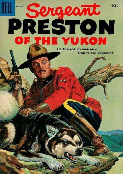 Sergeant Preston of the Yukon #15 Comic Books - Covers, Scans, Photos  in Sergeant Preston of the Yukon Comic Books - Covers, Scans, Gallery