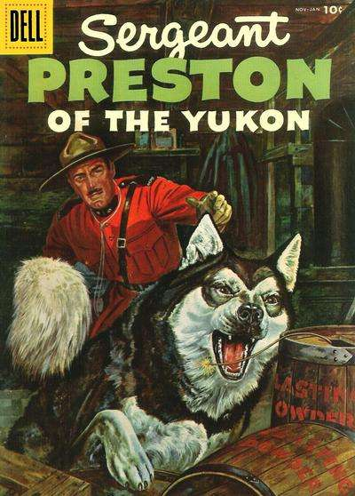 Sergeant Preston of the Yukon #17 Comic Books - Covers, Scans, Photos  in Sergeant Preston of the Yukon Comic Books - Covers, Scans, Gallery