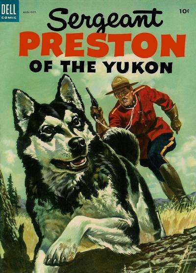 Sergeant Preston of the Yukon #8 Comic Books - Covers, Scans, Photos  in Sergeant Preston of the Yukon Comic Books - Covers, Scans, Gallery
