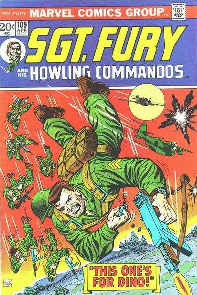 Sgt. Fury #109 comic books - cover scans photos Sgt. Fury #109 comic books - covers, picture gallery