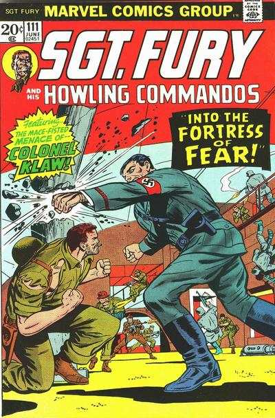 Sgt. Fury #111 comic books - cover scans photos Sgt. Fury #111 comic books - covers, picture gallery