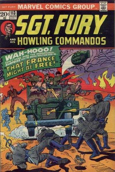Sgt. Fury #113 comic books - cover scans photos Sgt. Fury #113 comic books - covers, picture gallery