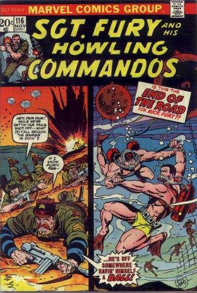 Sgt. Fury #116 comic books - cover scans photos Sgt. Fury #116 comic books - covers, picture gallery