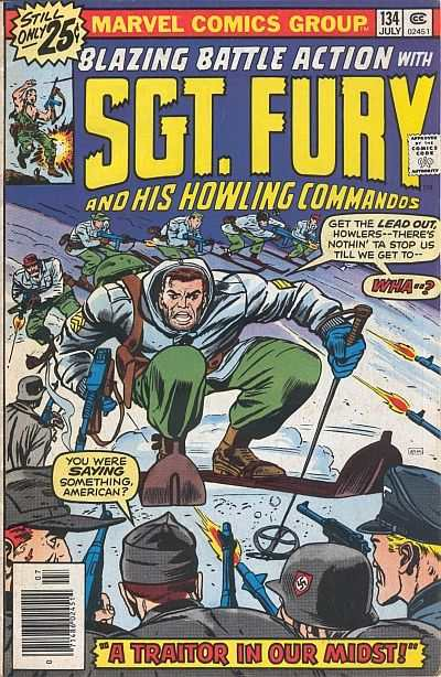Sgt. Fury #134 comic books - cover scans photos Sgt. Fury #134 comic books - covers, picture gallery