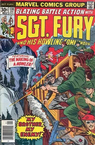 Sgt. Fury #138 comic books - cover scans photos Sgt. Fury #138 comic books - covers, picture gallery