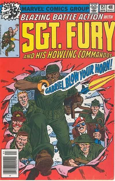 Sgt. Fury #151 comic books - cover scans photos Sgt. Fury #151 comic books - covers, picture gallery