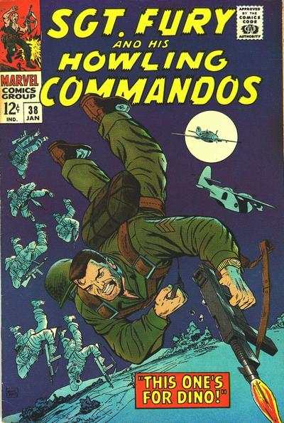 Sgt. Fury #38 comic books - cover scans photos Sgt. Fury #38 comic books - covers, picture gallery