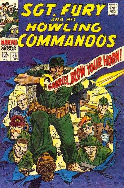 Sgt. Fury #56 cheap bargain discounted comic books Sgt. Fury #56 comic books