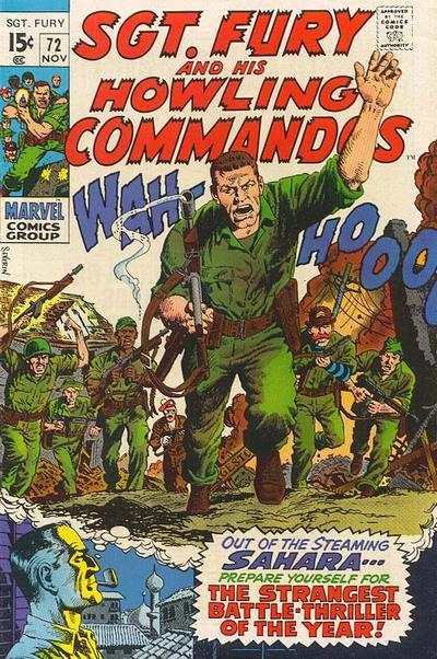 Sgt. Fury #72 comic books - cover scans photos Sgt. Fury #72 comic books - covers, picture gallery
