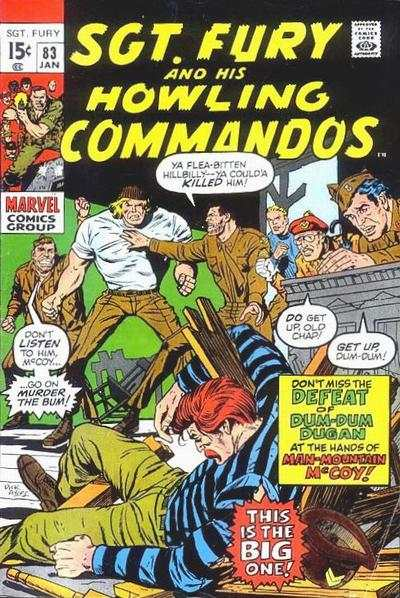 Sgt. Fury #83 comic books - cover scans photos Sgt. Fury #83 comic books - covers, picture gallery
