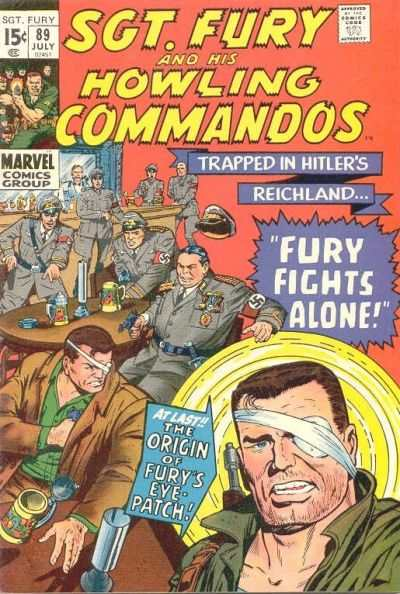 Sgt. Fury #89 comic books - cover scans photos Sgt. Fury #89 comic books - covers, picture gallery