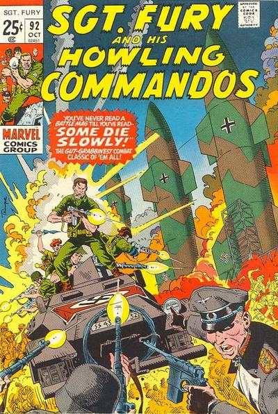 Sgt. Fury #92 cheap bargain discounted comic books Sgt. Fury #92 comic books