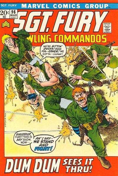 Sgt. Fury #96 comic books - cover scans photos Sgt. Fury #96 comic books - covers, picture gallery