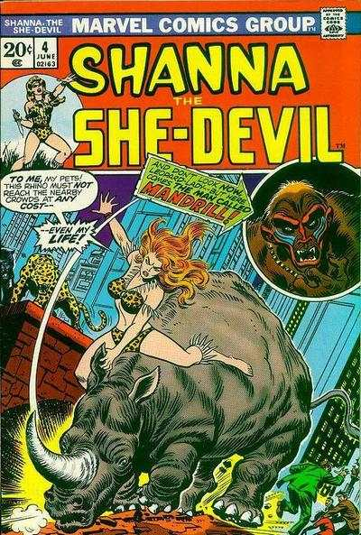 Shanna: The She-Devil #4 Comic Books - Covers, Scans, Photos  in Shanna: The She-Devil Comic Books - Covers, Scans, Gallery