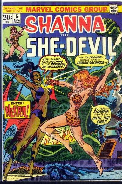 Shanna: The She-Devil #5 comic books - cover scans photos Shanna: The She-Devil #5 comic books - covers, picture gallery