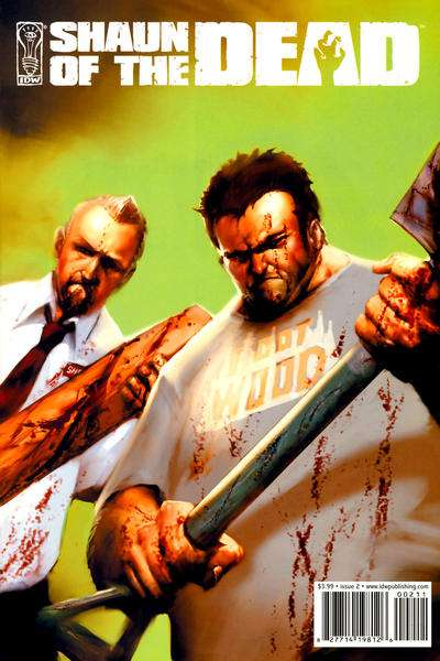 Shaun of the Dead #2 comic books - cover scans photos Shaun of the Dead #2 comic books - covers, picture gallery