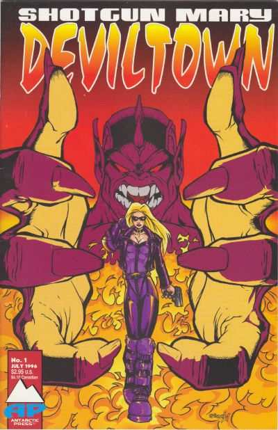 Shotgun Mary: Deviltown #1 Comic Books - Covers, Scans, Photos  in Shotgun Mary: Deviltown Comic Books - Covers, Scans, Gallery