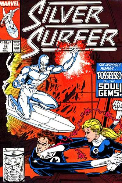 Silver Surfer #16 Comic Books - Covers, Scans, Photos  in Silver Surfer Comic Books - Covers, Scans, Gallery