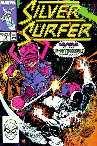 Silver Surfer #18 comic books - cover scans photos Silver Surfer #18 comic books - covers, picture gallery