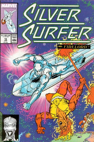 Silver Surfer #19 comic books - cover scans photos Silver Surfer #19 comic books - covers, picture gallery