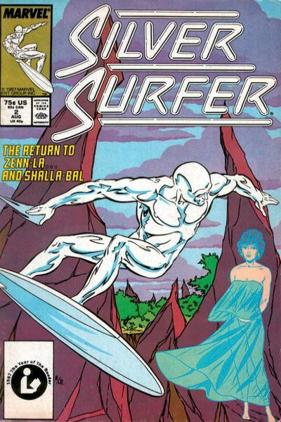 Silver Surfer #2 comic books - cover scans photos Silver Surfer #2 comic books - covers, picture gallery