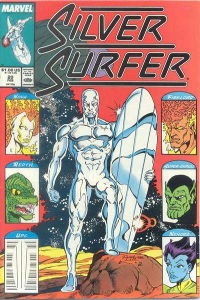 Silver Surfer #20 comic books - cover scans photos Silver Surfer #20 comic books - covers, picture gallery