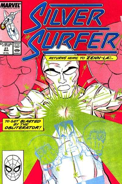 Silver Surfer #21 comic books - cover scans photos Silver Surfer #21 comic books - covers, picture gallery