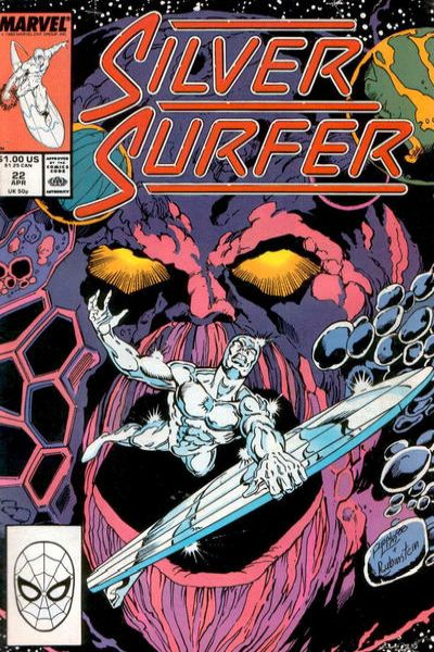 Silver Surfer #22 comic books - cover scans photos Silver Surfer #22 comic books - covers, picture gallery