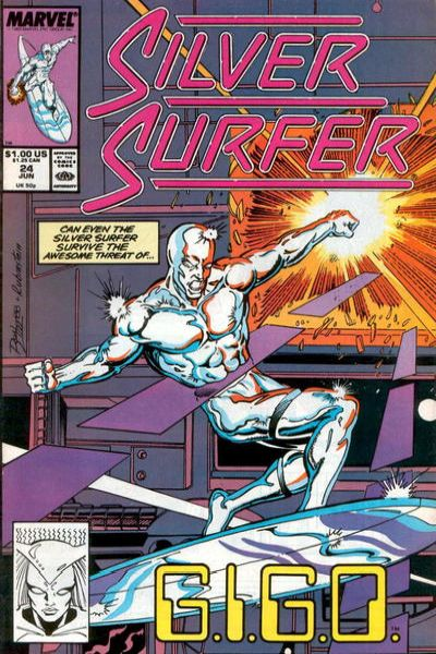 Silver Surfer #24 comic books - cover scans photos Silver Surfer #24 comic books - covers, picture gallery