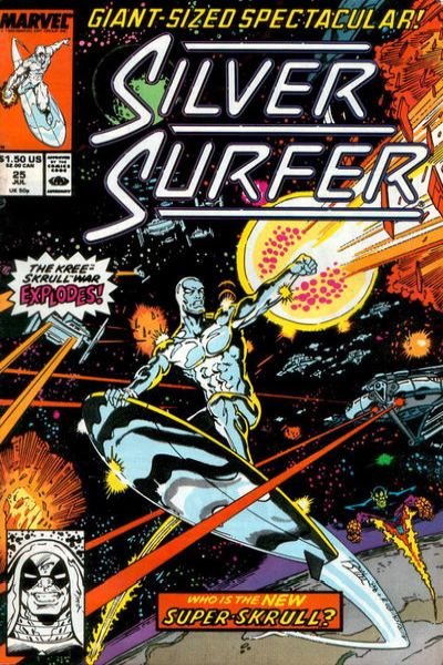 Silver Surfer #25 comic books - cover scans photos Silver Surfer #25 comic books - covers, picture gallery