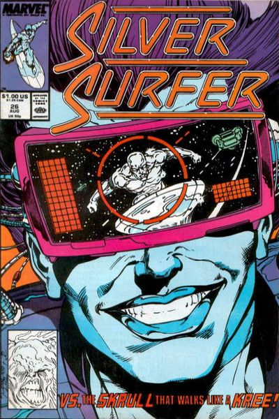Silver Surfer #26 comic books - cover scans photos Silver Surfer #26 comic books - covers, picture gallery