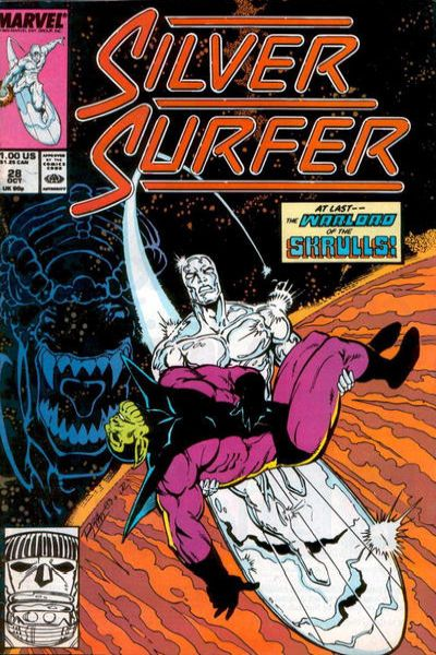 Silver Surfer #28 comic books - cover scans photos Silver Surfer #28 comic books - covers, picture gallery