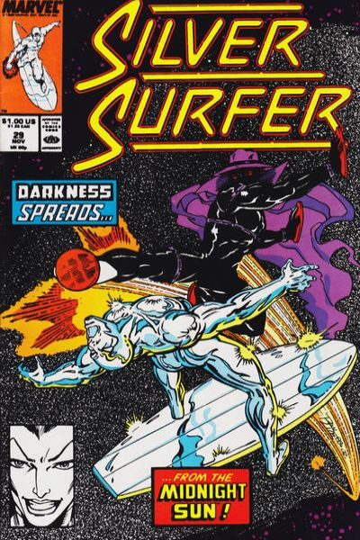 Silver Surfer #29 comic books - cover scans photos Silver Surfer #29 comic books - covers, picture gallery
