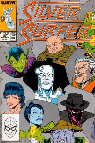 Silver Surfer #30 comic books - cover scans photos Silver Surfer #30 comic books - covers, picture gallery
