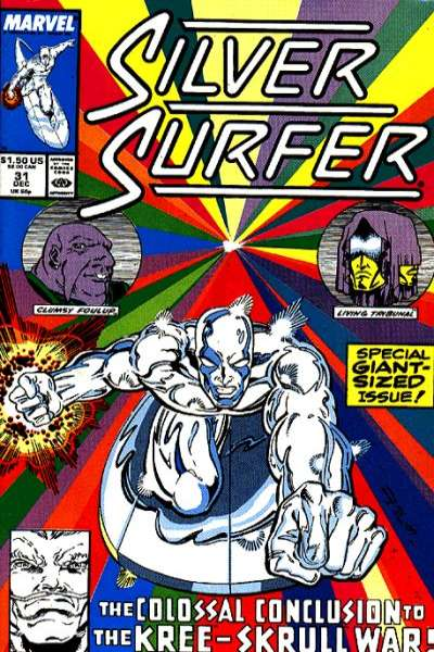 Silver Surfer #31 Comic Books - Covers, Scans, Photos  in Silver Surfer Comic Books - Covers, Scans, Gallery
