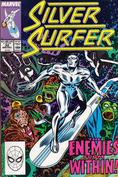 Silver Surfer #32 comic books - cover scans photos Silver Surfer #32 comic books - covers, picture gallery