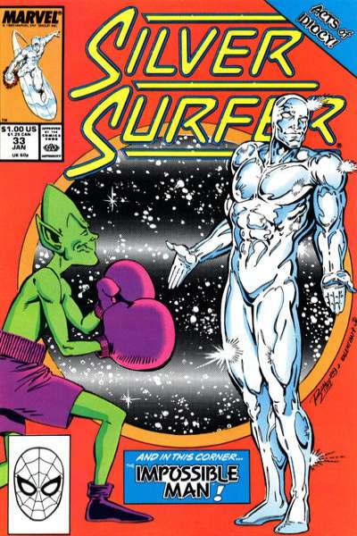 Silver Surfer #33 comic books - cover scans photos Silver Surfer #33 comic books - covers, picture gallery