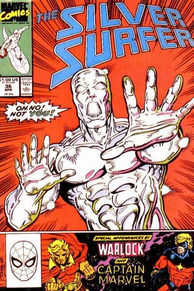 Silver Surfer #36 Comic Books - Covers, Scans, Photos  in Silver Surfer Comic Books - Covers, Scans, Gallery