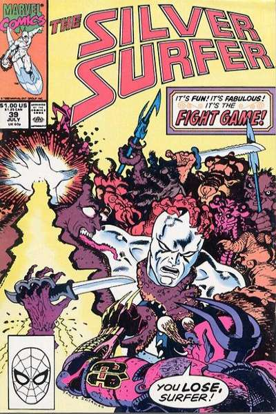 Silver Surfer #39 Comic Books - Covers, Scans, Photos  in Silver Surfer Comic Books - Covers, Scans, Gallery