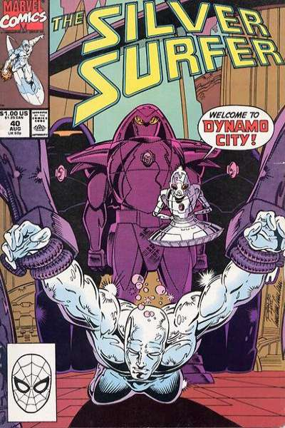 Silver Surfer #40 Comic Books - Covers, Scans, Photos  in Silver Surfer Comic Books - Covers, Scans, Gallery