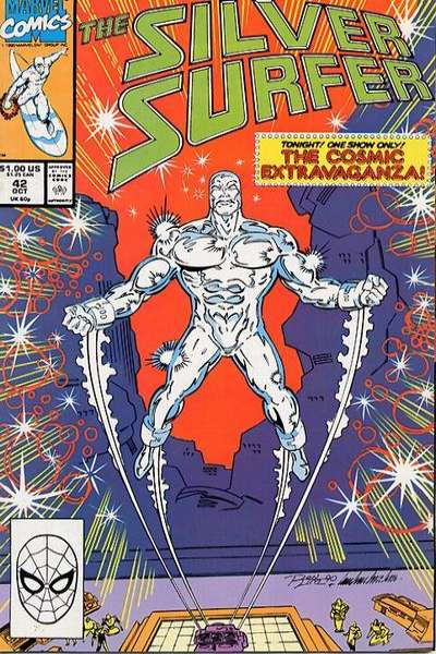 Silver Surfer #42 Comic Books - Covers, Scans, Photos  in Silver Surfer Comic Books - Covers, Scans, Gallery